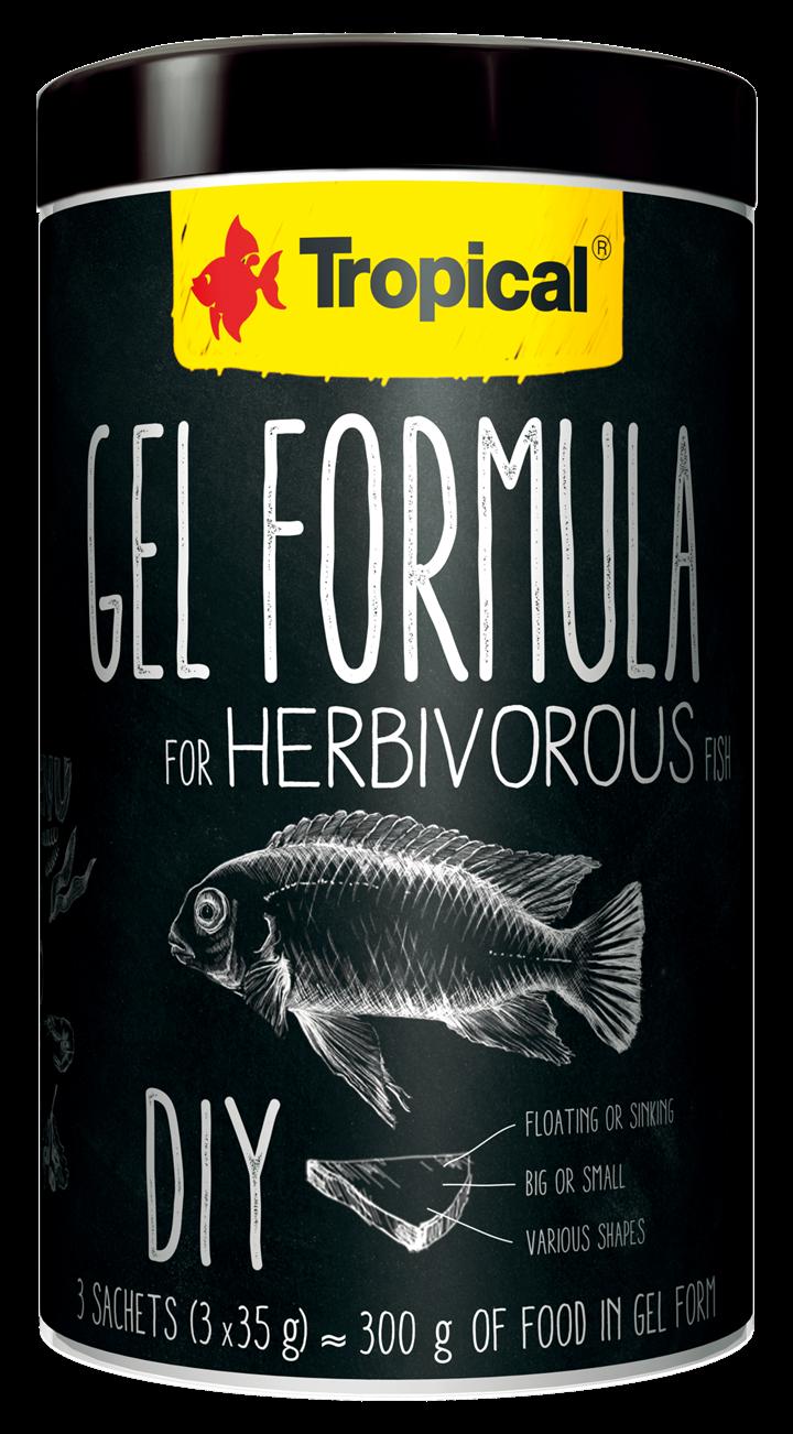GEL FORMULA FOR HERBIVOROUS FISH