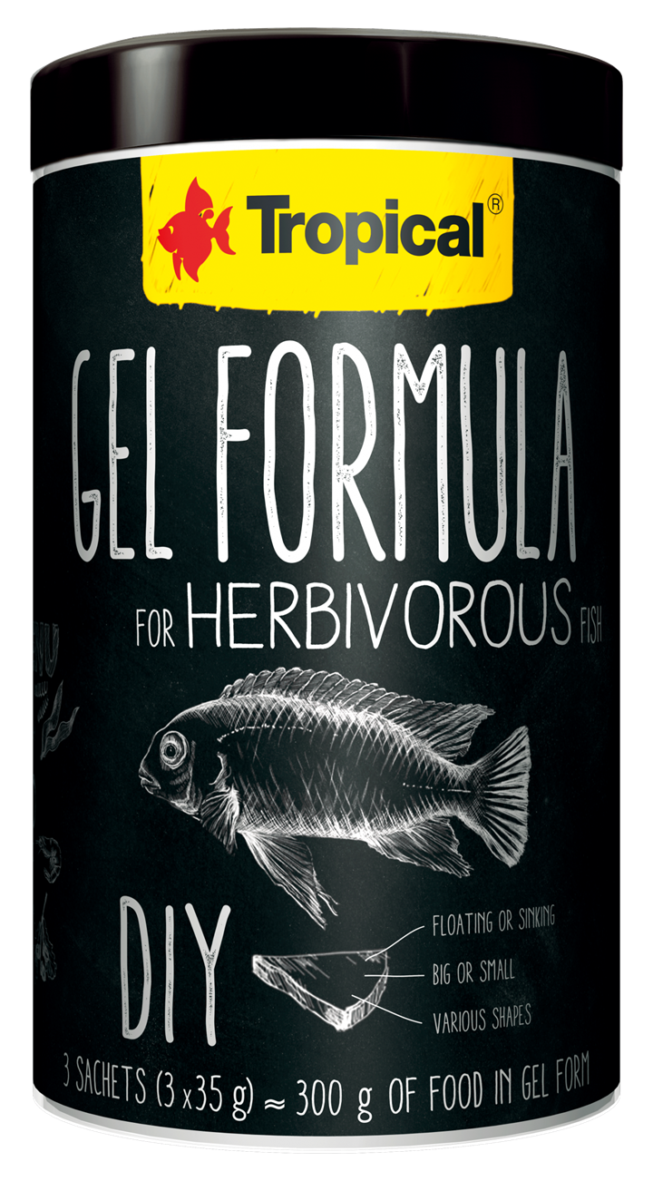 GEL FORMULA FOR HERBIVOROUS FISH