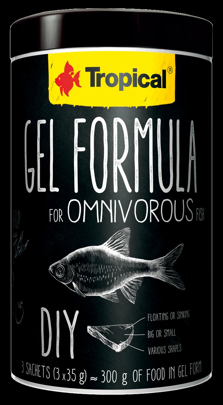GEL FORMULA FOR OMNIVOROUS FISH
