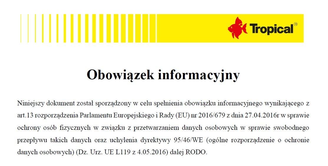 Polityka Prywatności serwisu Tropical.pl