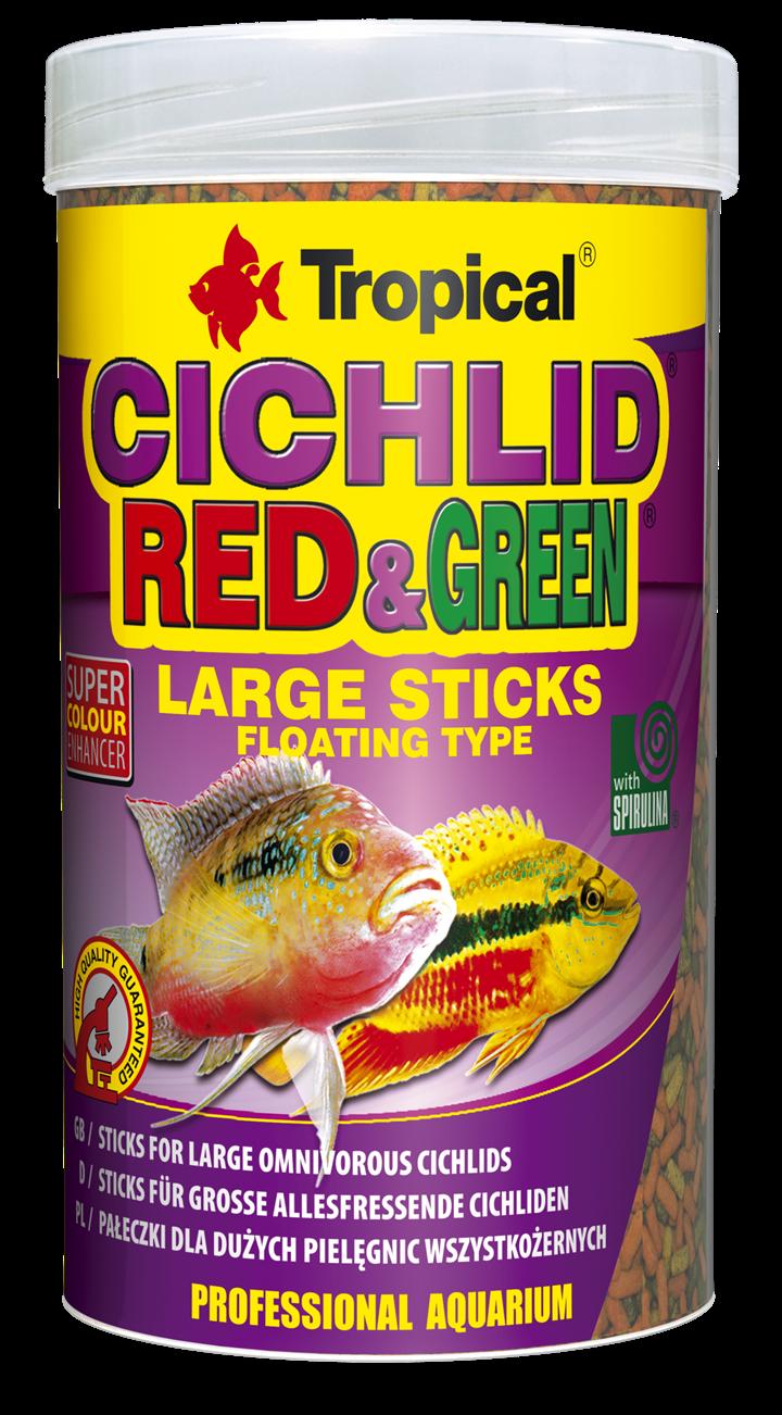 CICHLID RED & GREEN LARGE STICKS