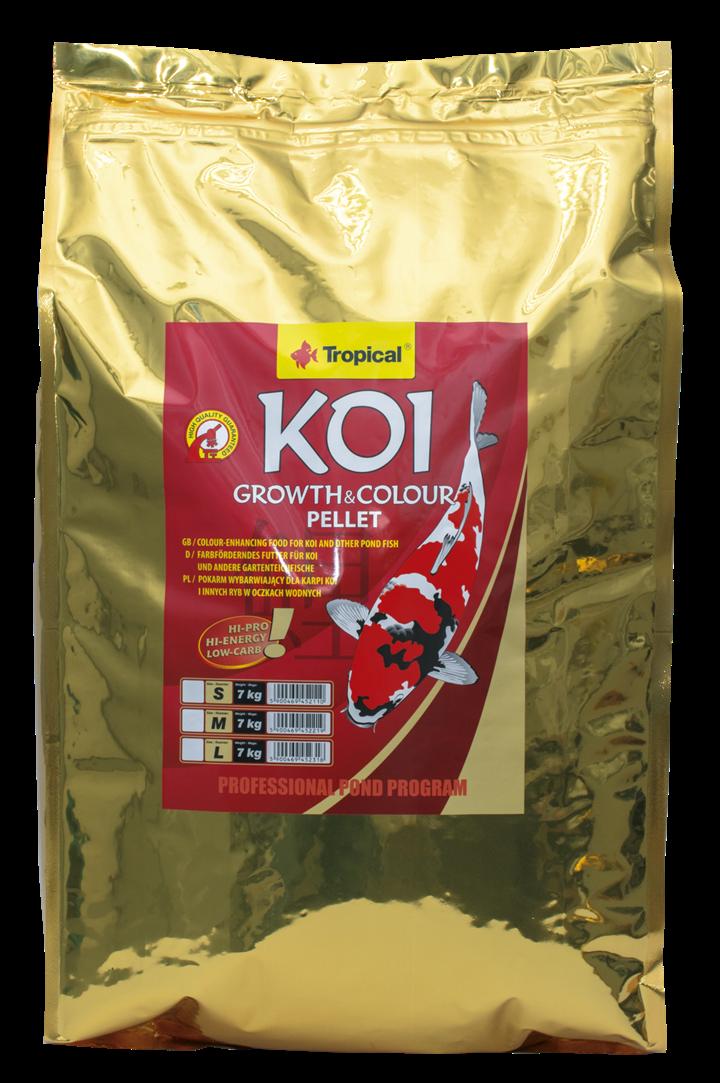 Koi Growth & Colour Pellet Size L