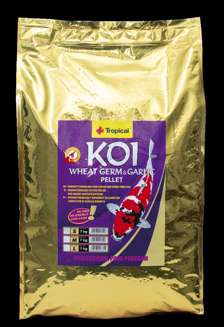 Koi Wheat Germ & Garlic Pellet Size L