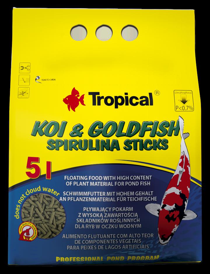 KOI & GOLDFISH SPIRULINA STICKS