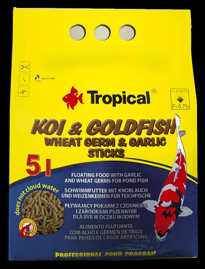 Koi & Goldfish Wheat Germ & Garlic Sticks
