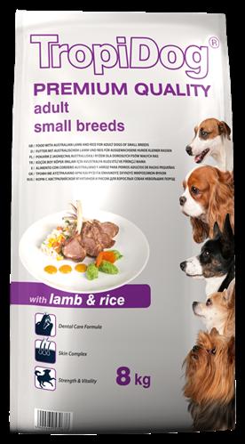 TROPIDOG PREMIUM ADULT SMALL BREEDS - WITH LAMB & RICE