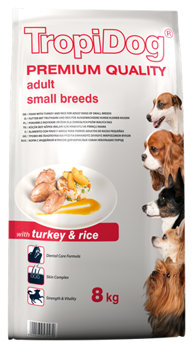 TROPIDOG PREMIUM ADULT SMALL BREEDS - WITH TURKEY & RICE